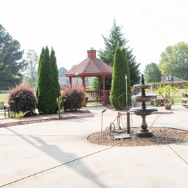 Facility garden and gazebo