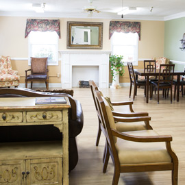 Nursing home furnished living area