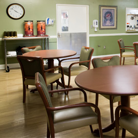Nursing home dining area